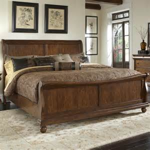 Bed Frames Ksl Liberty Furniture Rustic Traditions King Sleigh Bed Set
