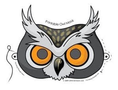 printable owl face mask freebies for crafters halloween printables and colouring