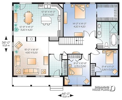Modele De Cuisine Americaine 1521 by House Plan W2185 V2 Detail From Drummondhouseplans