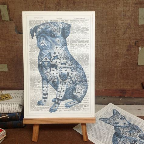 pug dictionary pug dictionary book page print by roo abrook notonthehighstreet