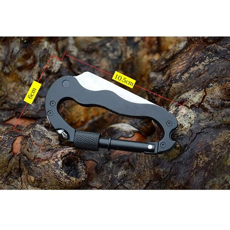 Multifunction 5 In 1 Carabiner Mountaineering Buckle 1 multifunction 5 in 1 carabiner mountaineering buckle with