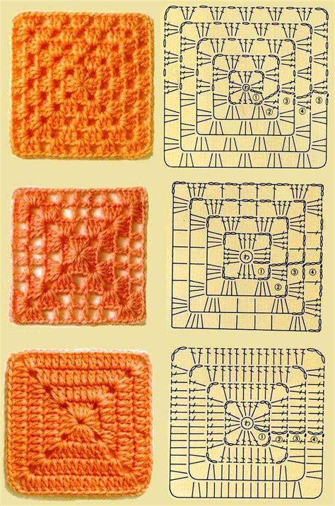 crochet pattern types 3 kinds of granny squares crochet pinterest