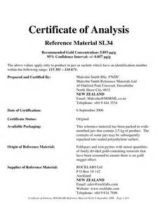 certificate of analysis template certificate of analysis template 6 media templates