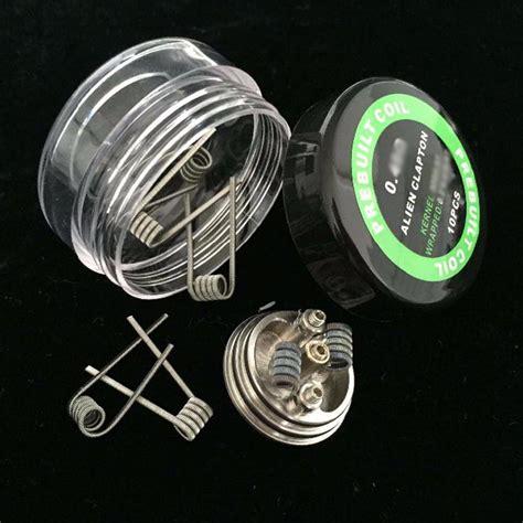 Prebuilt Coil Clapton Wire 10pcs Prebuilt Coil Clapton Wire 24ga 30ga 0 4 Ohm 10pcs Jakartanotebook