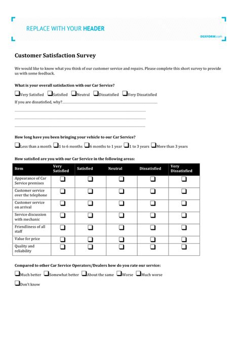 customer satisfaction survey download free documents for