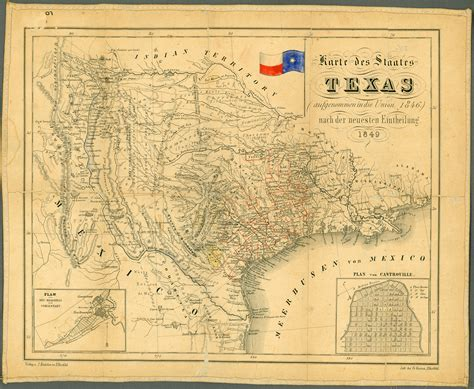 texas historical map 1849 texas historical map texas mappery