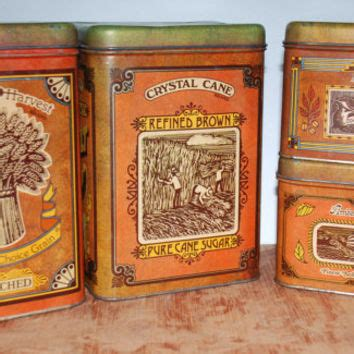 392 best flour sugar coffee tea images on pinterest vintage cheinco canister set offour from vintageonthespot on