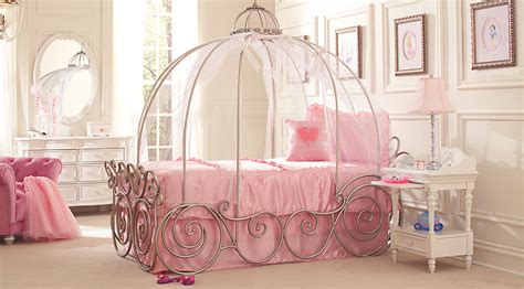 disney princess white 6 pc twin carriage bedroom disney