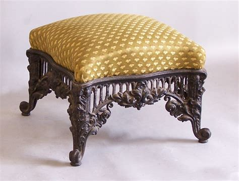 antique ottoman for sale french cast iron upholstered ottoman c1875 item 6464