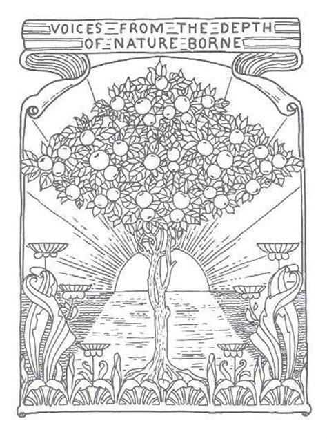 free printable art nouveau coloring pages profilo di camay my mind su libero community
