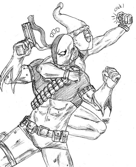 lady deathstroke coloring pages coloring pages