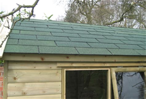 Felt On Shed Roof by We Offer A Range Of Roofing Options For Your New Garden