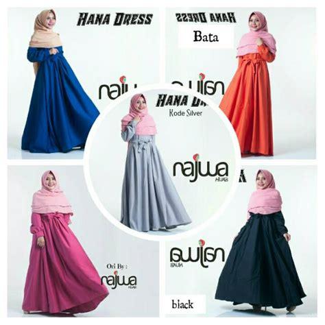 Gamis Azrina Dress Ori Najwa flash sale gamis polos balloteli hana dress ori najwa
