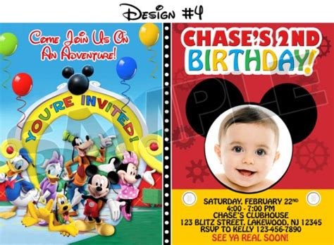 mickey mouse clubhouse printable birthday decorations mickey mouse clubhouse birthday party photo invitations
