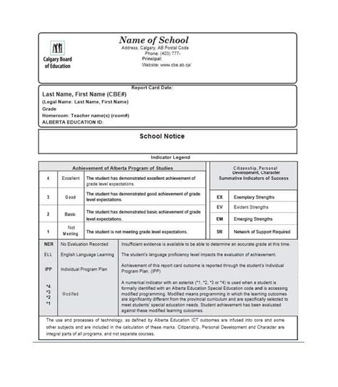 sle elementary report card template montessori report card template 28 images montessori