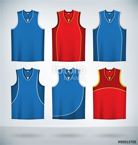 jersey design free vector quot basketball jerseys temlplates set mock up quot stock image