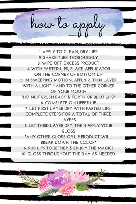 lipsense instructions cards  printables  simply