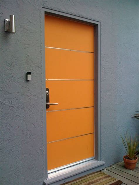 Custom Exterior Steel Doors Modern Custom Front Entry Diy Built This Myself Wood Door With Stainless Steel Strips New
