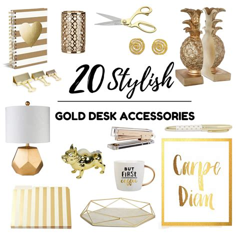 chic desk accessories gold desk accessories target knockoff gold desk