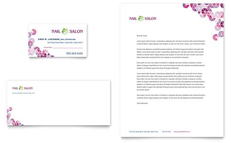nail salon business card template free nail salon business card letterhead template word