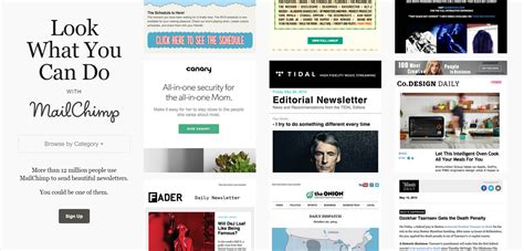 ui pattern library mailchimp 8 newsletter design galleries to inspire your next caign
