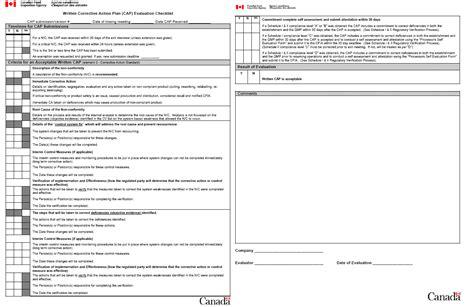 Written Plan Template by Corrective Plan Template Fispoi Qual Compliance