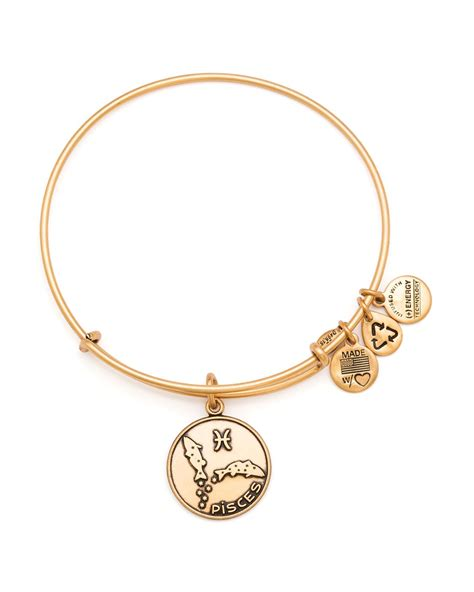 alex and ani lyst alex and ani pisces bangle in metallic