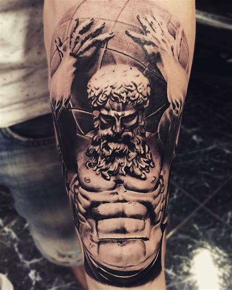 greek tattoo atlas greektattoo titan ink