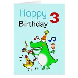3 birthday card happy 3rd birthday i am 3 zazzle