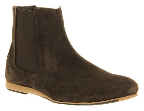 mens ask the missus nevermind chelsea boot brown suede