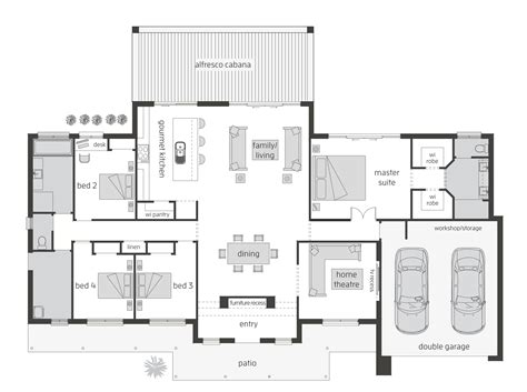 open plan floor plans australia house plan modern australian house plans charming design