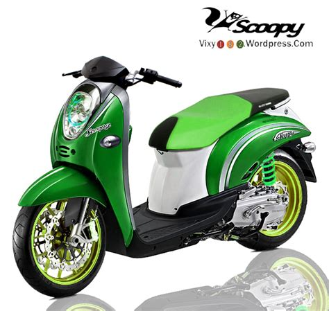 Scoopy 2018 Ungu design modifikasi fino vs scoopy serupa tapi tak sama
