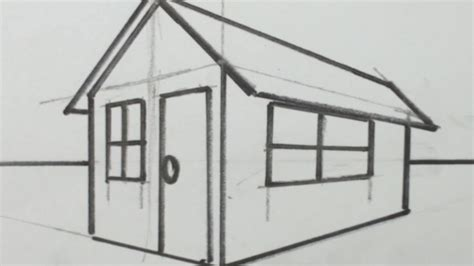 3d house drawing how to draw a 3d house drawing pinterest