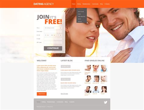 Dating Website Template 42519 Dating Website Template