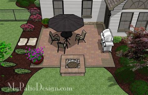 easy to build patio with pit for the yard