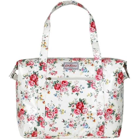 Kode 15183 Cath Kidston Bags White cath kidston spray flowers large zipped shoulder bag