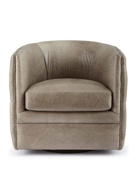 Bernhardt Abriola Leather Swivel Chair Bernhardt Swivel Chair
