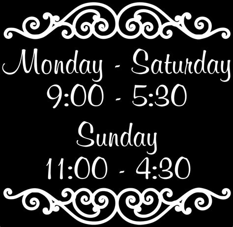 Custom Store Business Hours Store Hours Business Sign In 2019 Nani Retired Business Hours Hours Template