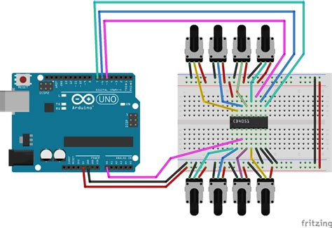 Cd 4051 Be Cd4051be 201 lectronique en 201 tude de ci multiplexeur d 233 multiplexeur cd4051