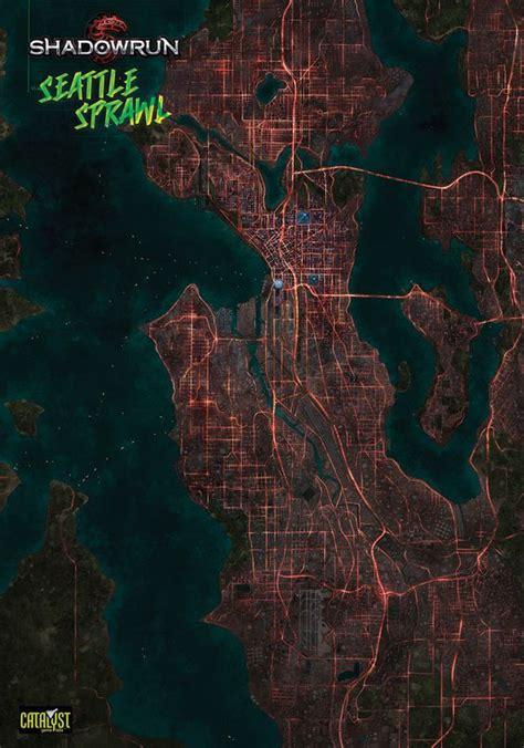 seattle map shadowrun map of seattle in shadowrun cyberpunk shadowrun