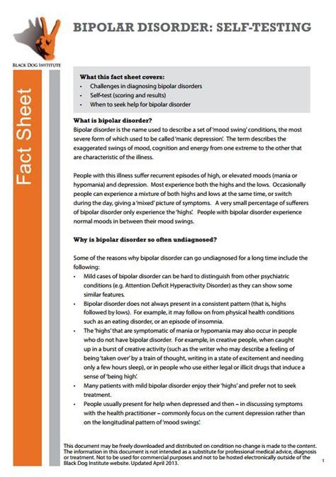 printable bipolar questionnaire for adults bipolar disorder health navigator nz