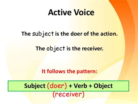 sentence pattern passive voice active and passive voice