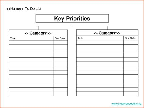 48 priority list template to do list template 11 free
