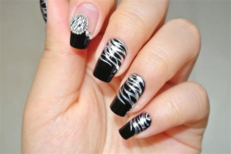 easy nail art black and silver black and silver nail designs ideas and 20 photos
