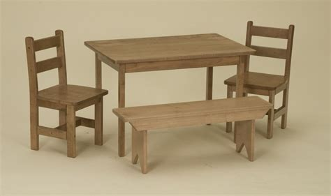 childrens wooden kitchen furniture child kitchen table set chairs bench oak homeschool wooden