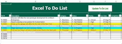 things to do list template excel 8 things to do list template excel exceltemplates