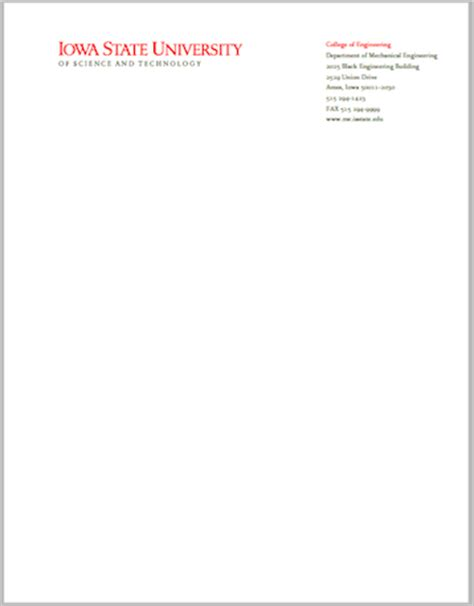 College Letterhead Design Letterhead Brand Standards