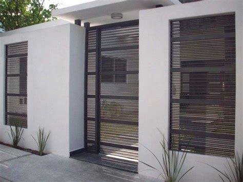 imagenes rejas minimalistas fachadas de casas con herreria sencilla fachadas pinterest