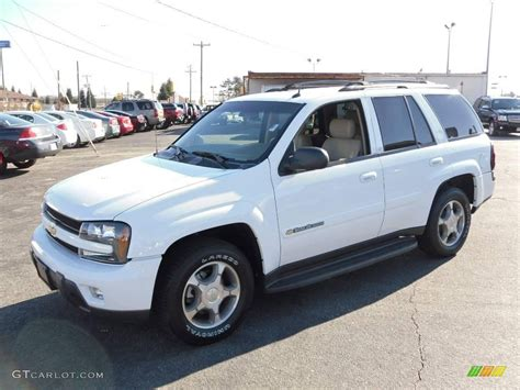 2004 Summit White Chevrolet Trailblazer Lt 23095426 Photo
