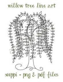 willow tree line art willow tree clip art by